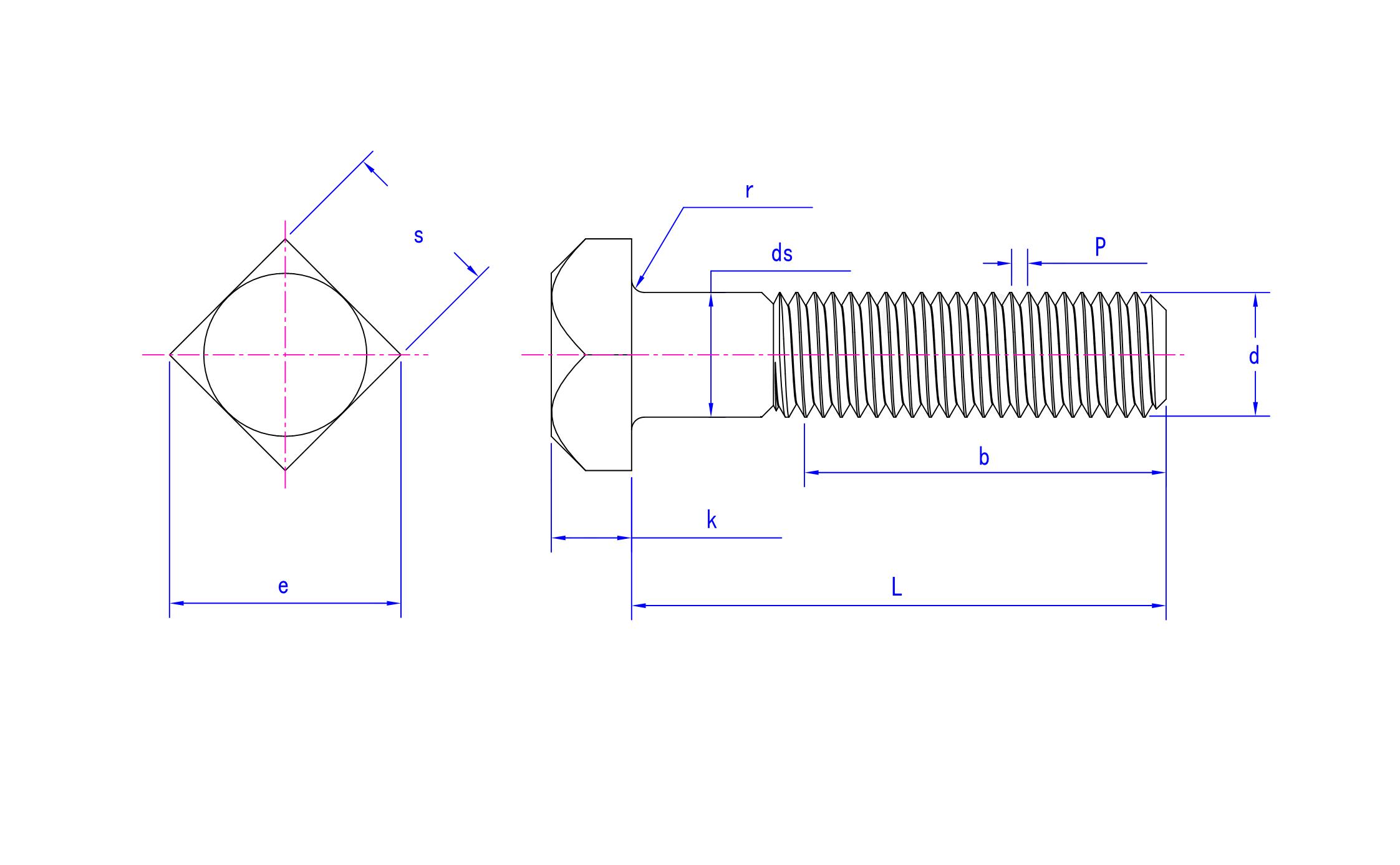 square bolt